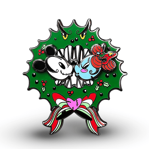 Holiday Smooches Enamel Pin
