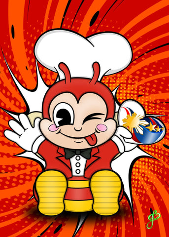 Jollibee - 5x7 Art Print by Jo2