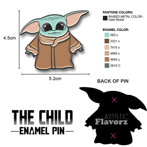 The Child Enamel Pin