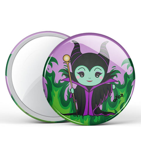 Maleficent Button Mirror