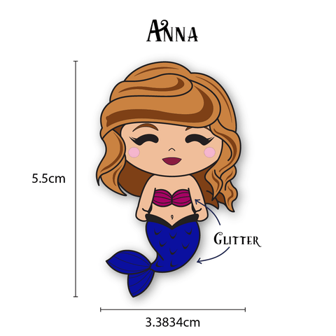 Anna Mermaid Enamel Pin