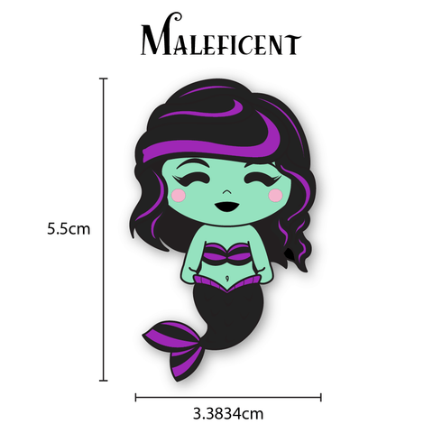 Chibi Evil Mistress Mermaid Enamel Pin