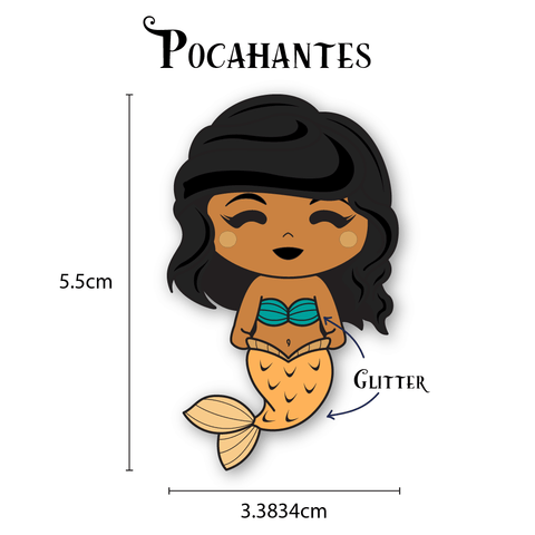 Pocahantas Mermaid Enamel Pin