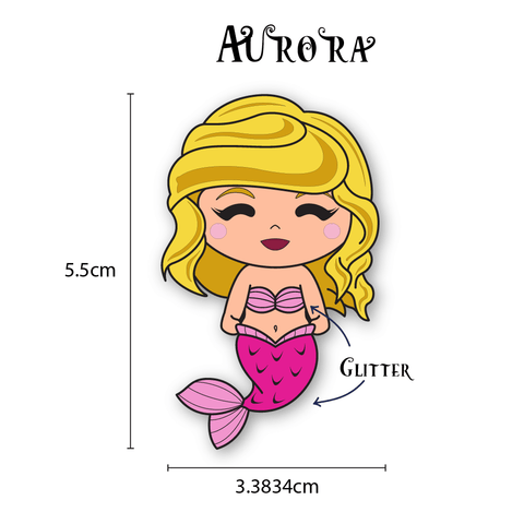 Aurora Mermaid Enamel Pin