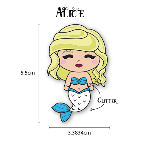 Alice Mermaid Enamel Pin