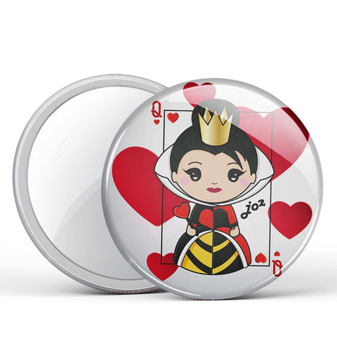 Queen of Hearts Button Mirror
