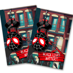 Miles Spiderman Protesting with BLM 4x6 Postcard | Postcards Artistic FlavorzArtistic Flavorz