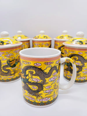 Load image into Gallery viewer, Chinese Dragon Print Mug - Set of 6