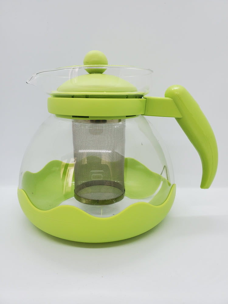 Green Glass Tea Pot- Large