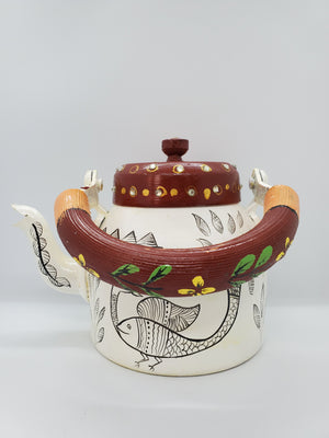 Load image into Gallery viewer, Hand Painted Tea Pot White