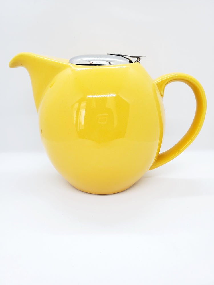 Load image into Gallery viewer, Yellow Ceramic Tea Pot- Small