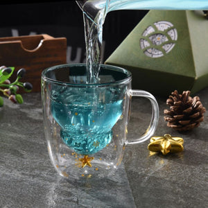 Load image into Gallery viewer, Christmas Tree Star Cup - Double Wall Glass Mug