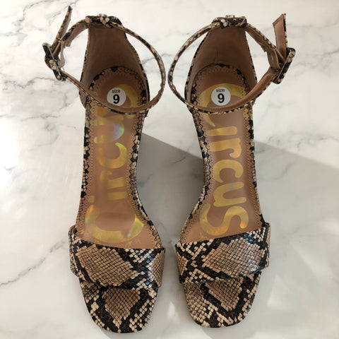 NEW Circus Sam Edelman 'Elgin' Snakeskin Wedge Sandal/Size 9