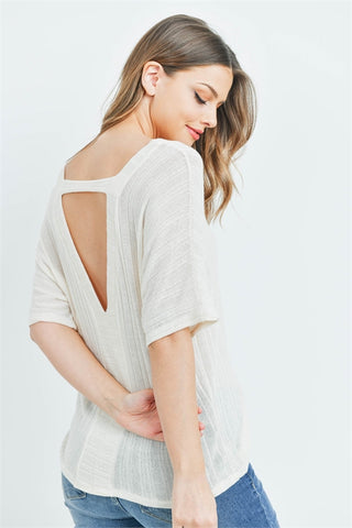 Open Back Sweater in Ivory
