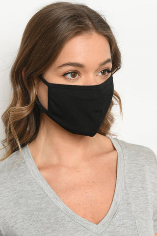 Unisex Black Reusable Mask