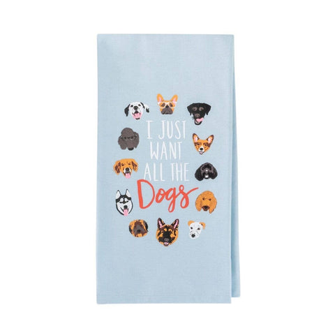 All the Dogs Tea Towel