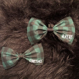 Green Buffalo Check Bow Tie