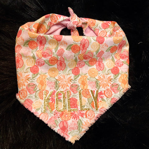 Tie Closure Pretty in Pink Pet Bandana