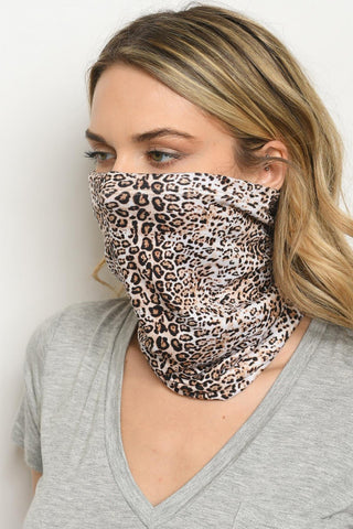 Reusable Leopard Face Cover