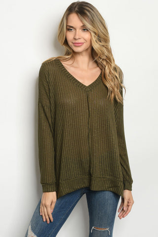 Olive Lightweight Sweater