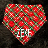 Christmas Plaid Pet Bandana