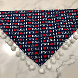 I Love the USA Pom Bandana