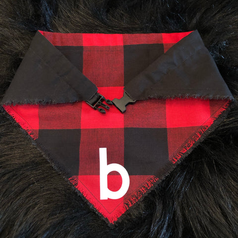 Red Buffalo Check Pet Bandana