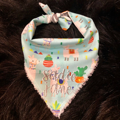 Tie Closure Llama Party Bandana