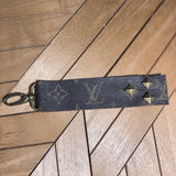 Upcycled Studded Keychain/Fob