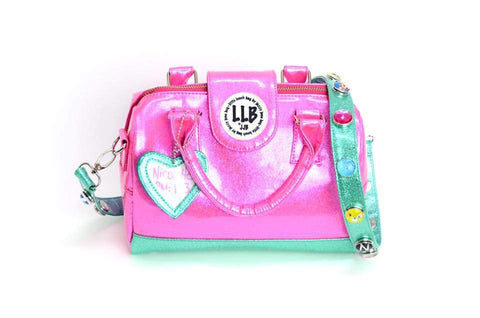 Little Lunch Bag Insulated Purse in Pink and MInt