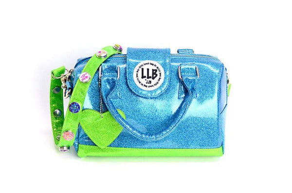 Little Lunch Bag Insulated Purse in Blue and Green