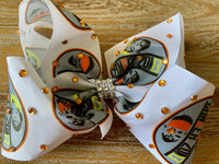 "Danger zone 8"" hair bow"