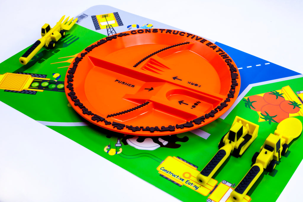 Constructive Eating-Construction Plate