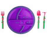 Constructive Eating-Garden Fairy Plate