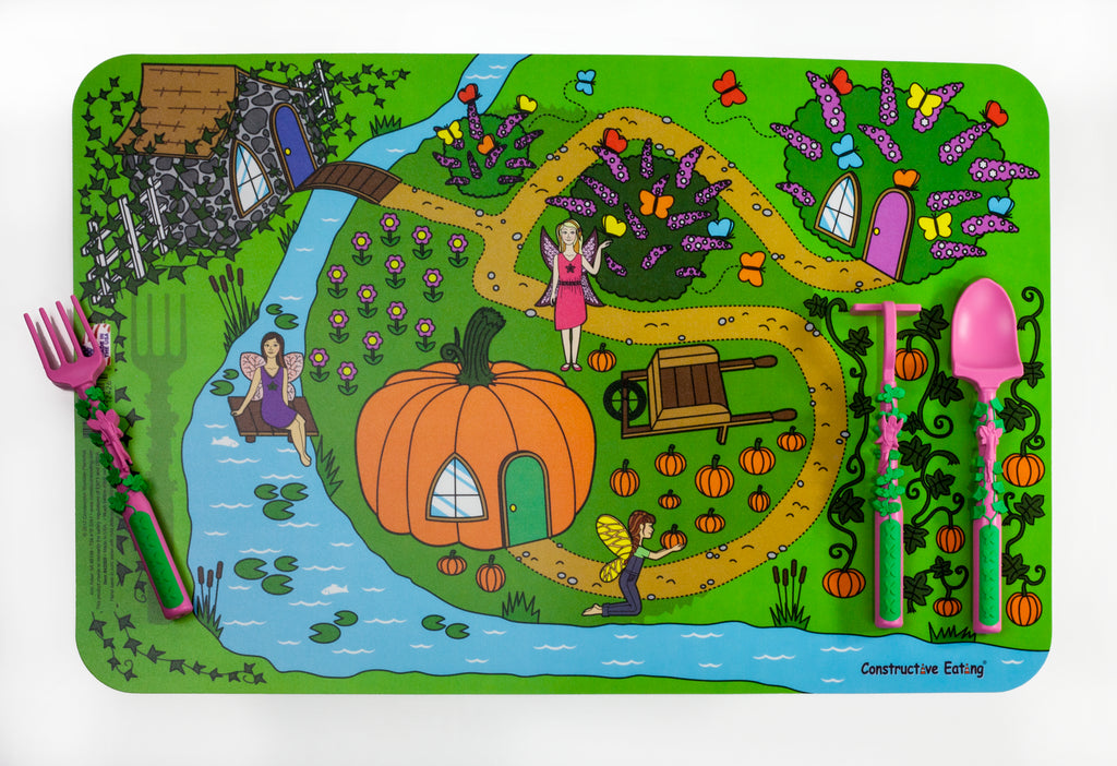 Contructive Eating-Garden Fairy Placemat