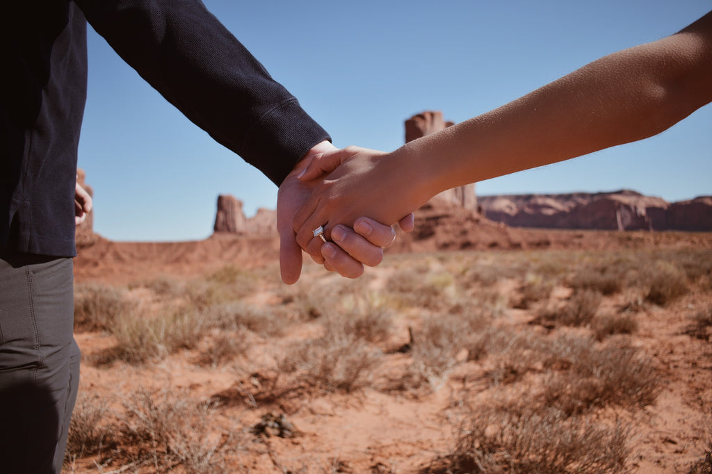 Engaged in Monument Valley