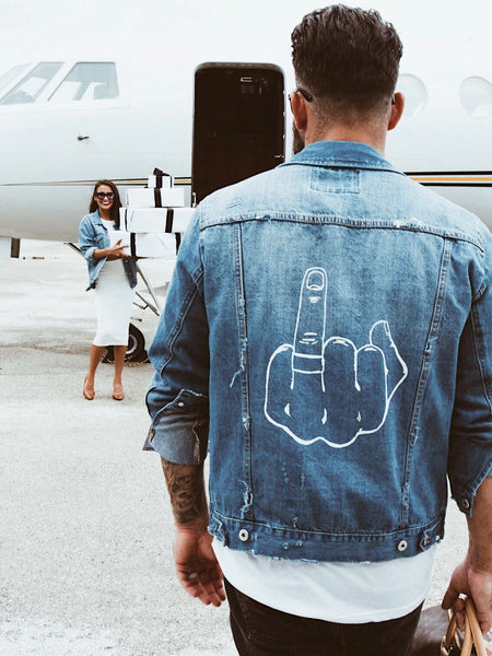 Give 'em the Finger | Jean Jacket for Him