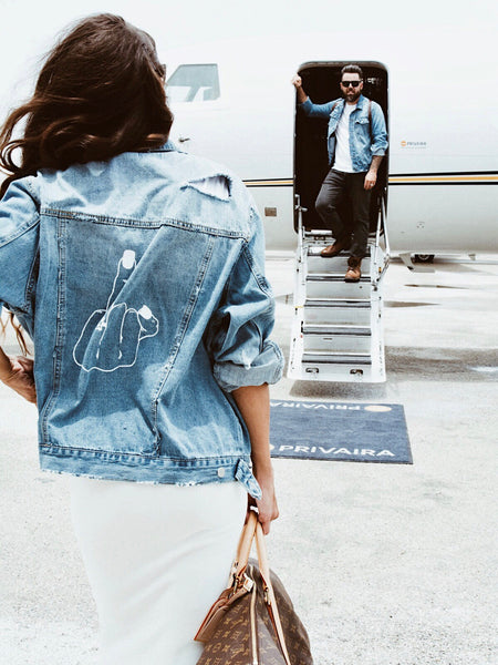 Give 'em the Finger | Jean Jacket for Her