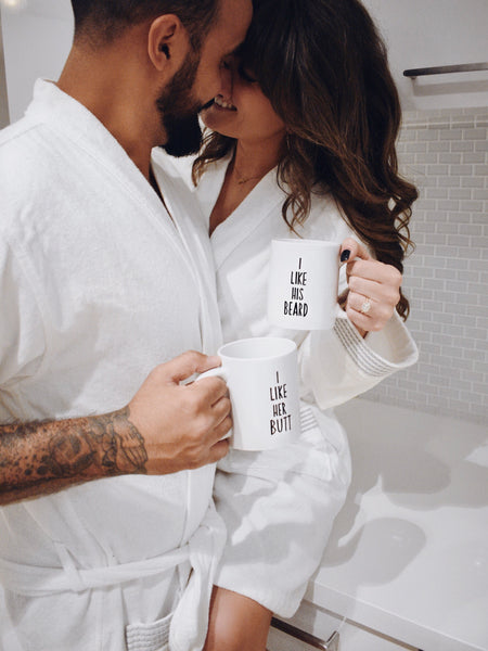 His & Hers Coffee Mugs | Beard & Butt Lovers