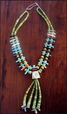 Southwest Serpentine Jacla Necklace
