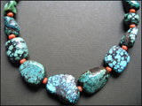 Tibetan Turquoise and Coral Necklace
