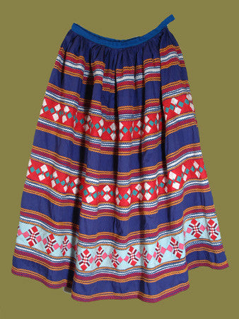 Three Row Patchwork Seminole Skirt