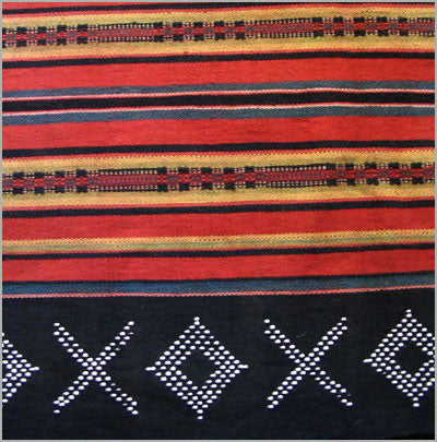 SE Asian Beaded Tribal Skirt from Laos