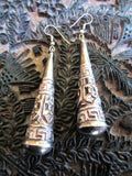 Ornate Tibetan Silver Comet Drop Earrings