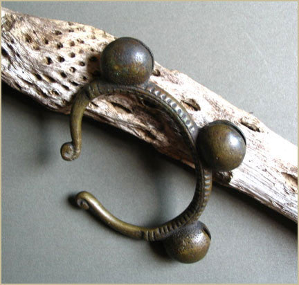 Antique Bronze Bell Bracelet from Africa