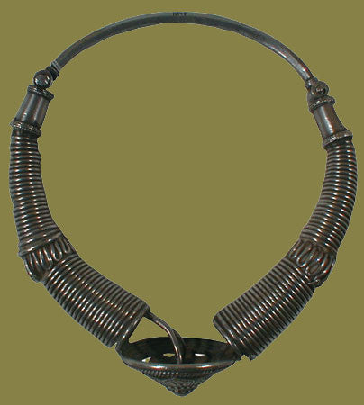 Silver Indian Torque Necklace