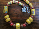 Colorful Antique African Trade Bead Bracelet