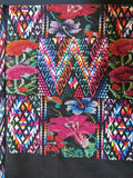 Exquisite Rainbow-Colored Huipil from Chichicastenango