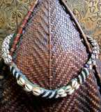 Old BaKuba Beaded Cowrie Belt Necklace