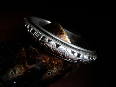 Antique Chinese Openwork Silver Cuff